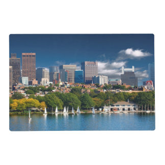 The city of Boston and Charles river Placemat