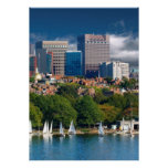 The city of Boston and Charles river Posters