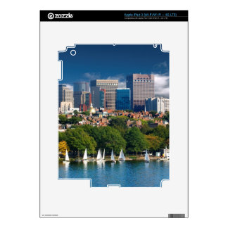 The city of Boston and Charles river Skin For iPad 3