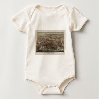 The City of Boston by Parsons & Atwater 1873 Baby Bodysuit