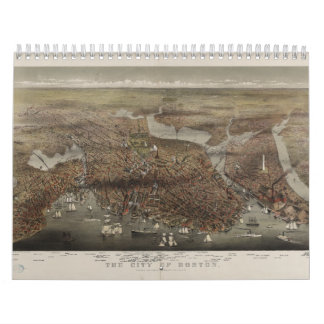 The City of Boston by Parsons Atwater 1873 Calendar