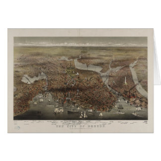 The City of Boston by Parsons & Atwater 1873 Card