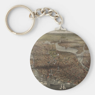 The City of Boston by Parsons & Atwater 1873 Key Chain