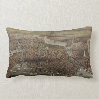 The City of Boston by Parsons & Atwater 1873 Pillows