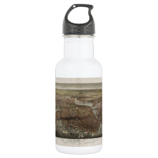 The City of Boston by Parsons & Atwater 1873 Stainless Steel Water Bottle