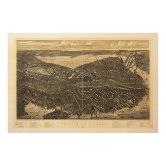 The City of Boston Massachusetts (1879) Wood Print