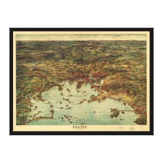 The City of Boston Massachusetts (1905) Canvas Print