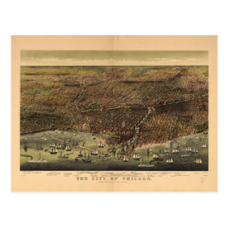 The City of Chicago by Ives (1892) Postcard