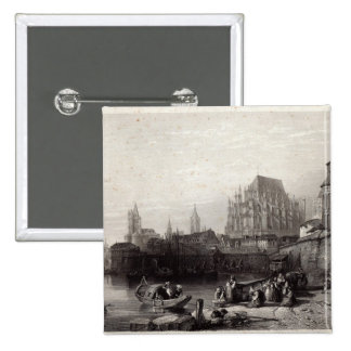 The City of Cologne, engraved by M.J. Sterling Button