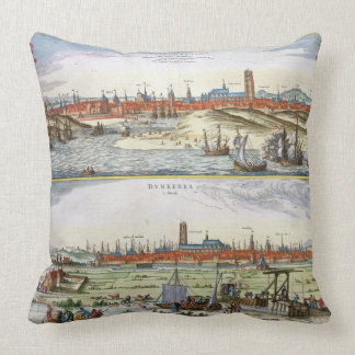 The City of Dunkirk during the Spanish occupation, Throw Pillow