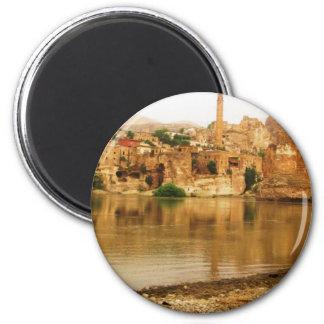 The City of Hasankeyf, Turkey  PHOTO 2 Inch Round Magnet