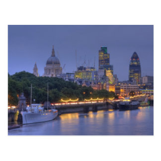 The City of London at dusk Postcard