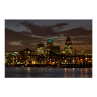 The City of London at night Poster
