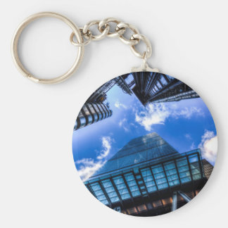 The City Of London Basic Round Button Keychain