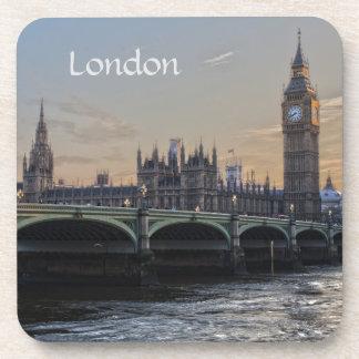 The city of London England Beverage Coaster