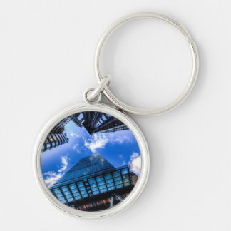 The City Of London Silver-Colored Round Keychain
