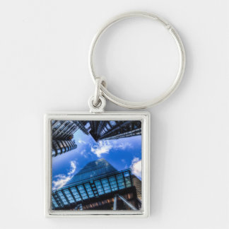 The City Of London Silver-Colored Square Keychain