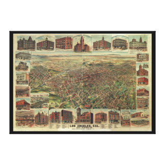 The City of Los Angeles California in 1891 Canvas Print