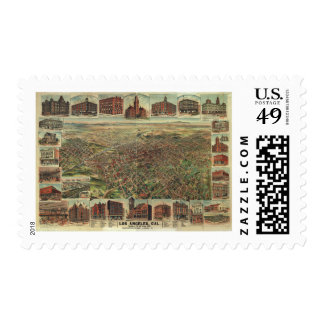 The City of Los Angeles California in 1891 Postage Stamp