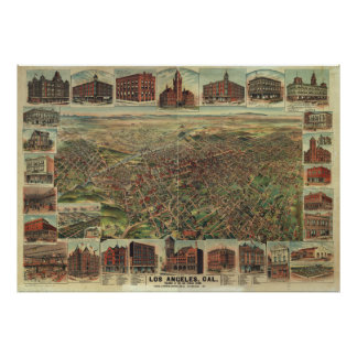 The City of Los Angeles California in 1891 Poster