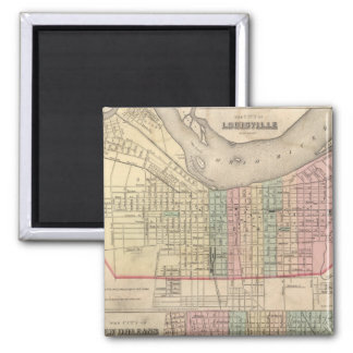 The City of Louisville, Kentucky 2 Inch Square Magnet