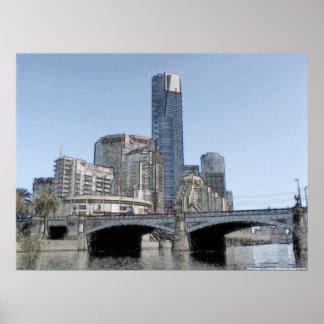 The City of Melbourne - Australia Poster