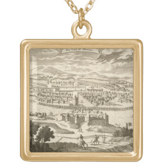 The City of Mexico, 1723 (engraving) Square Pendant Necklace