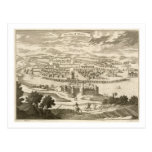 The City of Mexico, 1723 (engraving) Postcard