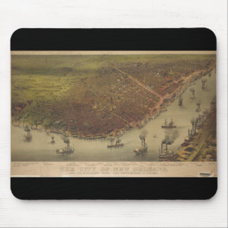 The City of New Orleans Louisiana from 1885 Mouse Pad