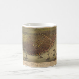 The City of New Orleans Louisiana from 1885 Coffee Mugs