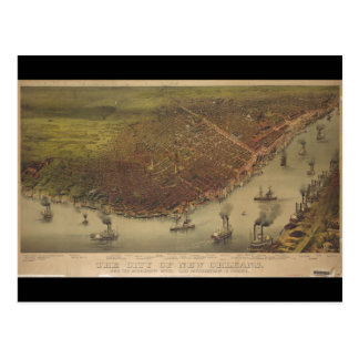 The City of New Orleans Louisiana from 1885 Postcard
