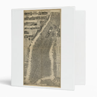 The City of New York by Will Taylor (1879) Vinyl Binder
