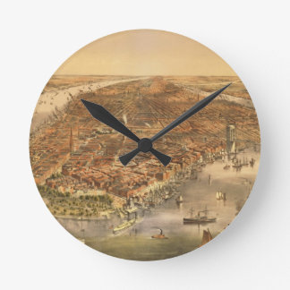 The City of New York, pub. by Currier and Ives, 18 Round Clock