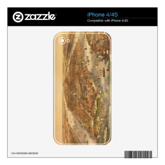 The City of New York, pub. by Currier and Ives, 18 Decals For The iPhone 4