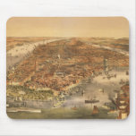 The City of New York, pub. by Currier and Ives, 18 Mouse Pad