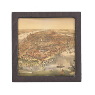 The City of New York, pub. by Currier and Ives, 18 Premium Keepsake Box