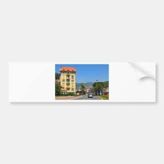 The city of Nice on French Riviera Bumper Sticker