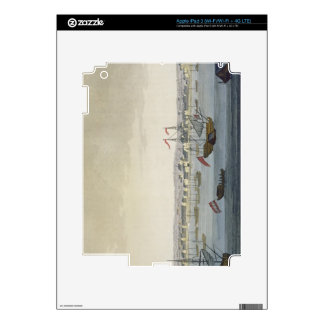 The City of Paramaribo (colour engraving) Skin For iPad 3