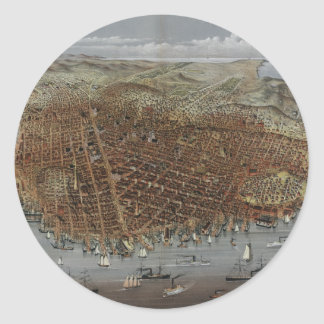 The City of San Francisco California from 1878 Classic Round Sticker