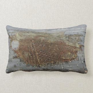 The City of San Francisco California from 1878 Lumbar Pillow