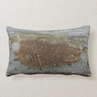 The City of San Francisco California from 1878 Throw Pillows