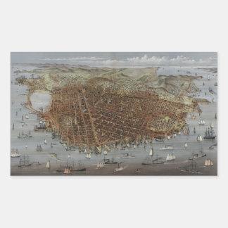 The City of San Francisco California from 1878 Rectangular Sticker