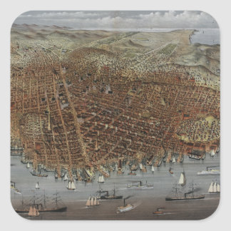 The City of San Francisco California from 1878 Square Sticker