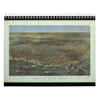 The City of St. Louis Missouri from 1874 Wall Calendars