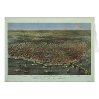 The City of St. Louis Missouri from 1874 Greeting Card