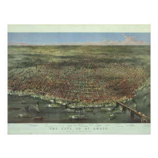 The City of St. Louis Missouri from 1874 Letterhead