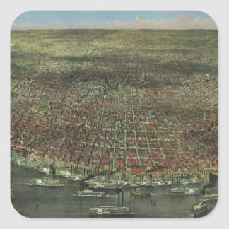 The City of St. Louis Missouri from 1874 Square Sticker
