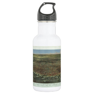 The City of St. Louis Missouri from 1874 Water Bottle