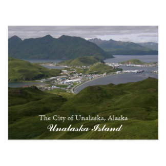 The City of Unalaska, Alaska Postcard