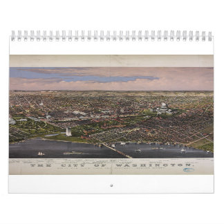 The City of Washington D C from 1880 Wall Calendar